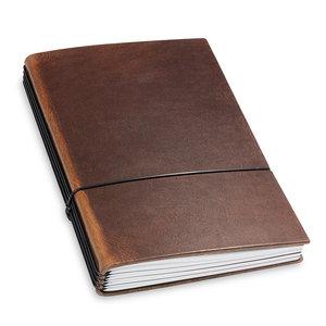 X17 Travel Journal / organizer - Marone A5- four elastics