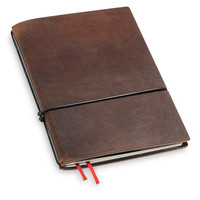 Travel Journal / organizer - Marone A6- een elastiek