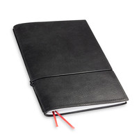 Travel Journal / organizer - Zwart A5- een elastiek
