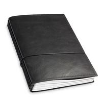Travel Journal / organizer - Zwart A5- vier elastieken