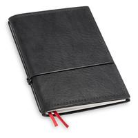 Travel Journal / organizer - Zwart A6 - een elastiek