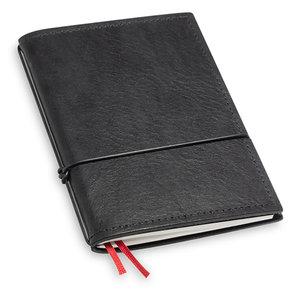X17 Travel Journal / organizer - Zwart A6 - een elastiek
