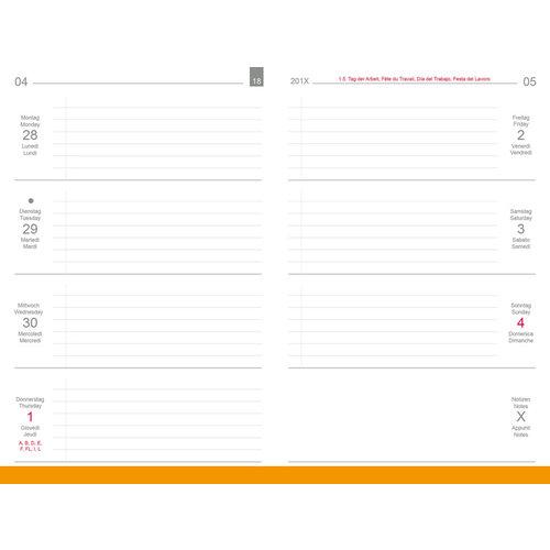 X17 X17 Weekkalender 'Quer' A6