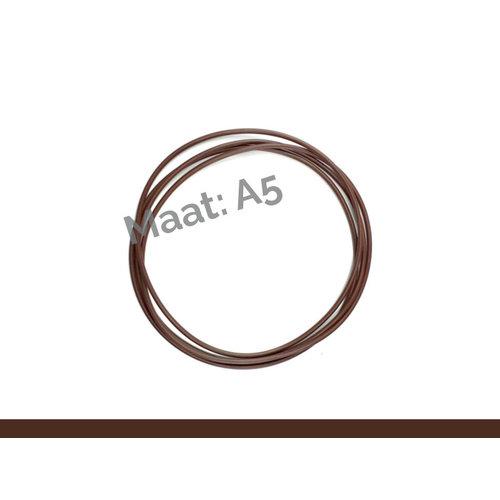 X17 ElastiXs- reserve elastieken Bruin A5