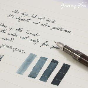 Gazing Far Gazing Far fountain pen ink - Tuxedo - sample