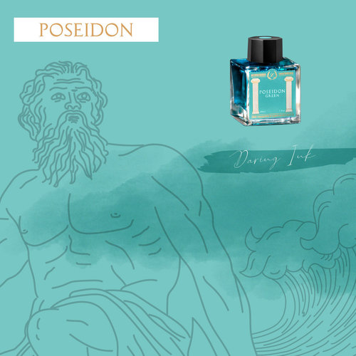 Laban Greek Mythology inkt - Poseidon Green - Sample