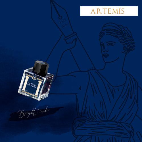 Laban Greek Mythology ink - Artemis Blue - Sample