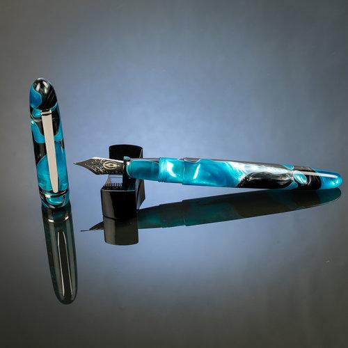 Edison Pen Co Edison Menlo fountain pen - Blue Grotto