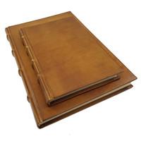 Monterosso leren notitieboek  - Cognac