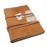 Manarola lederen notitieboek - Cognac