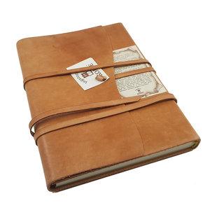 Legatoria Koiné Manarola lederen notitieboek - Cognac