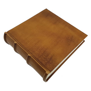 Legatoria Koiné Monterosso leather photo album - Cognac