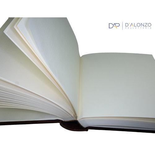 Legatoria Koiné Monterosso leren fotoalbum - Donkerbruin
