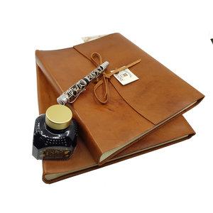 Legatoria Koiné Manarola leather photoalbum - Cognac