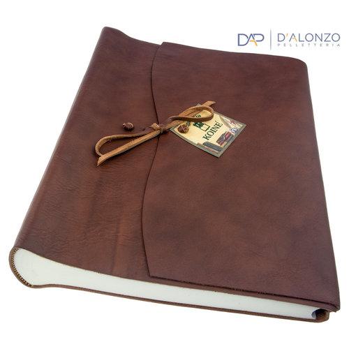 Legatoria Koiné Manarola leather photoalbum - Dark brown