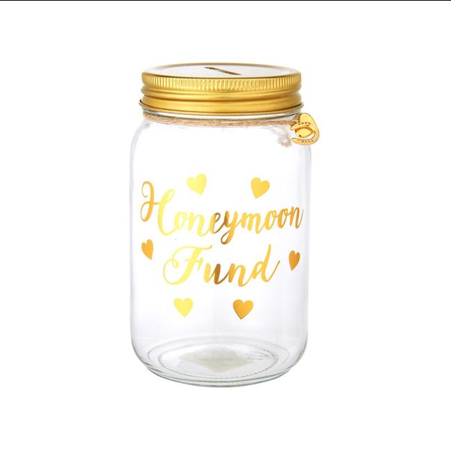 Honeymoon fund money box