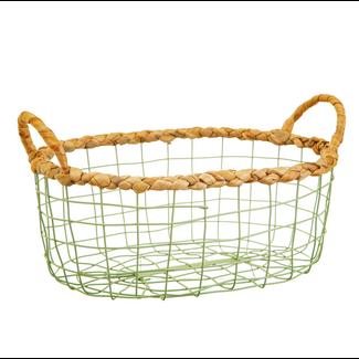 Sass & Belle Green wire storage basket set
