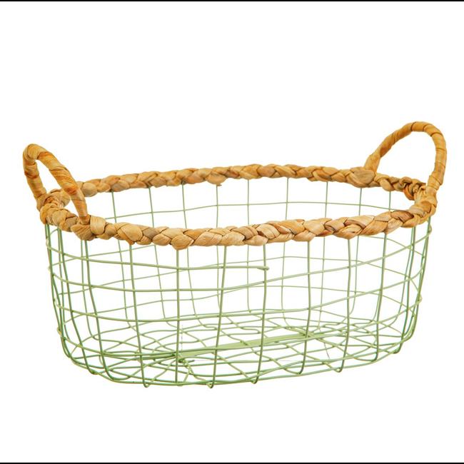 Green wire storage basket set