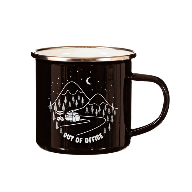 Out of Office Enamel Mug
