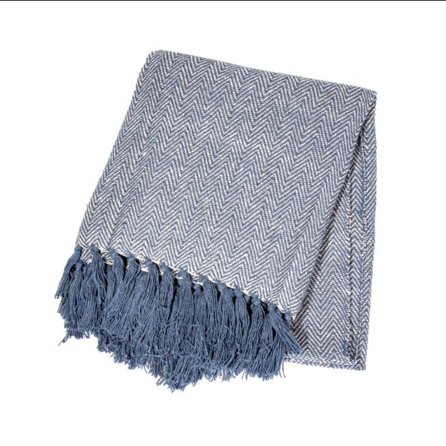 Blue Herringbone blanket