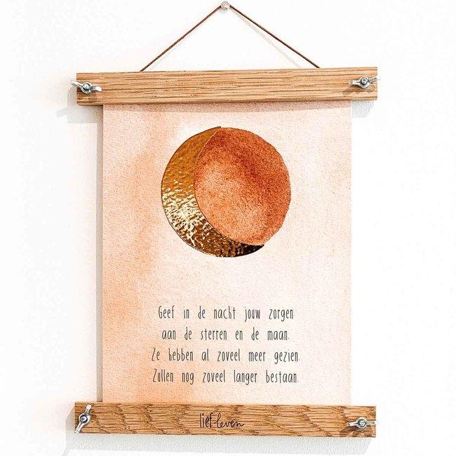 Lief Leven | Maan poster