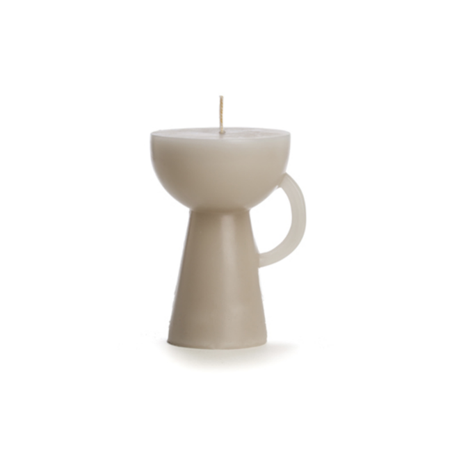 Rustik Lys | Kaars sculpture Cup Grijs