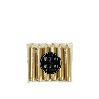Kaarsen 6 stuks - Gold