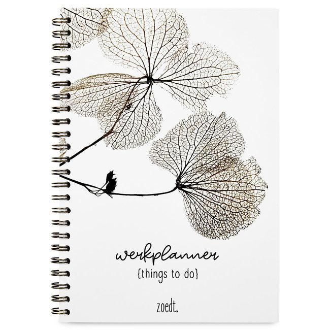 Werkplanner things to do gedroogde bladeren
