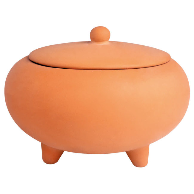 Outdoor terracotta scented candle