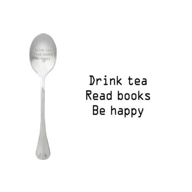 theelepel drink tea, read books, be happy