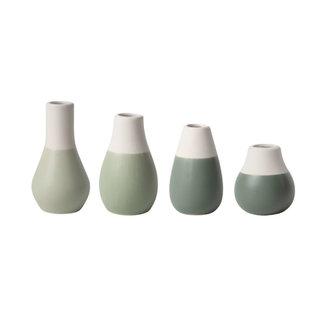 Räder Mini pastel vases - set of 4 groen