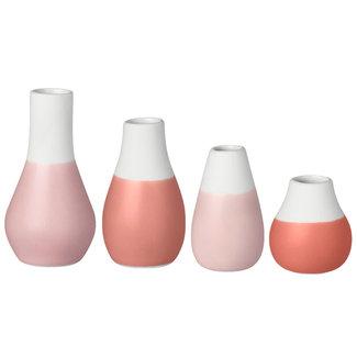 Räder Mini pastel vases - set of 4 roze