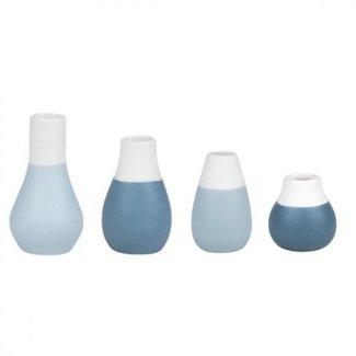 Räder Mini pastel vases - set of 4 pcs blue