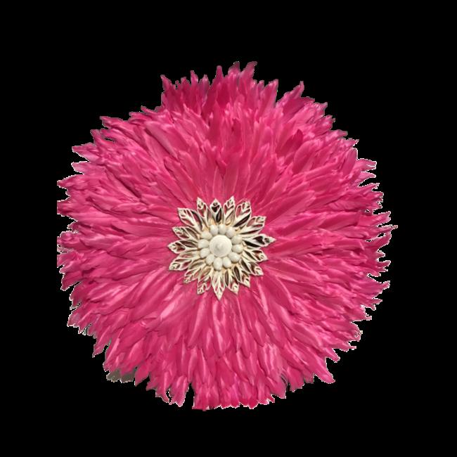 veren ornament roze