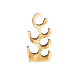Wijnrek suar hout(6 flessen)
