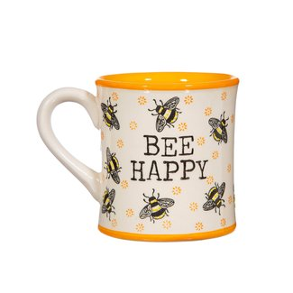 sass en belle bee happy mug