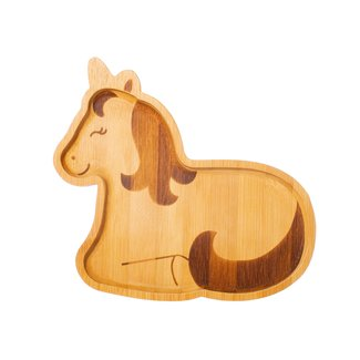 bamboo unicorn plate