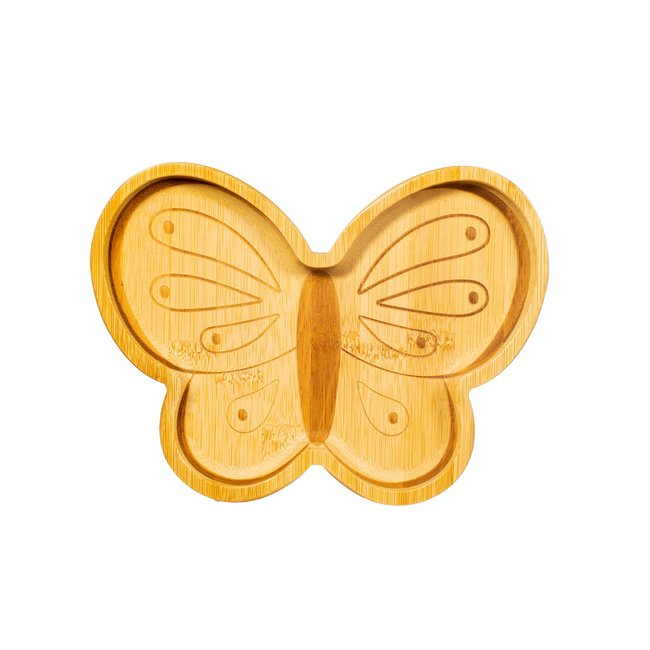 butterfly bamboo plate