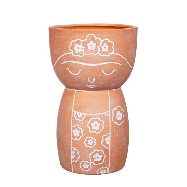 sass en belle frida terracotta vase
