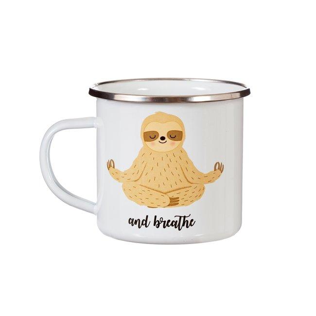 yoga animal mug