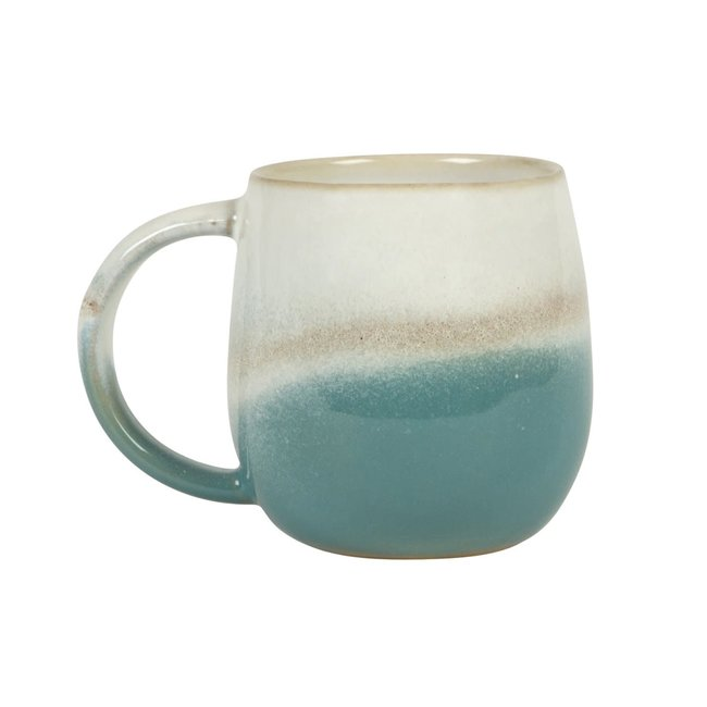 sass en belle dip glazed ombre green  mug