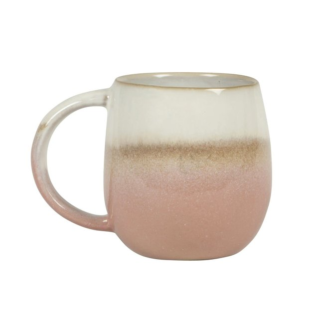 sass en belle dip glazed ombre pink mug