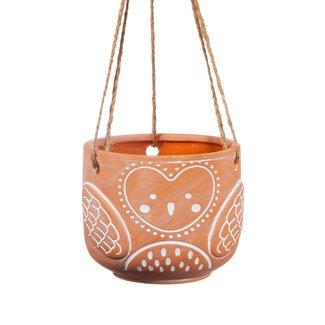 Terracotta hang potje uil