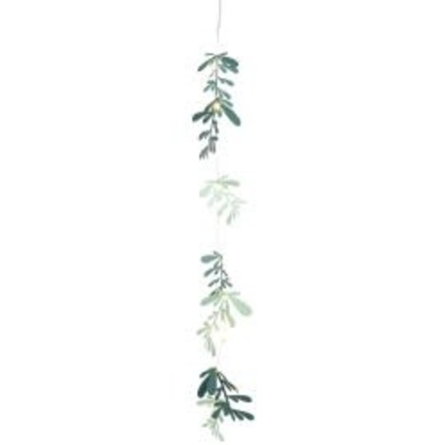 Outdoor led leaves chain