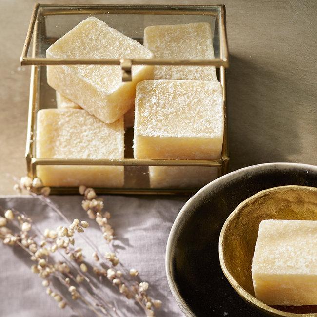 Amber blokje vanille (licht geel)