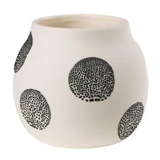 Räder Pearl vase small White Black