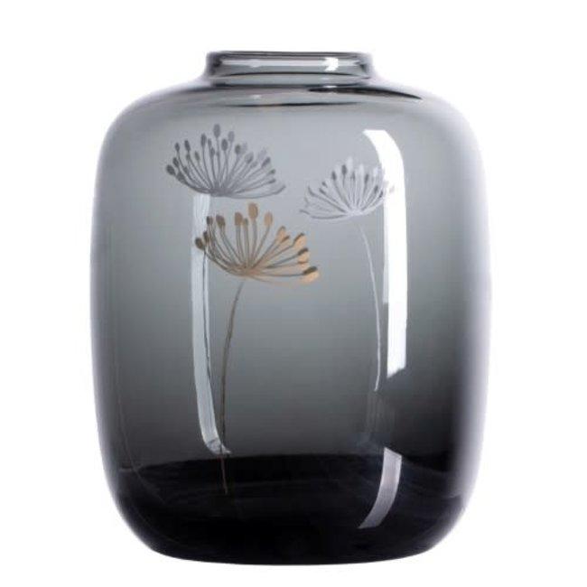Glass vase dandelion