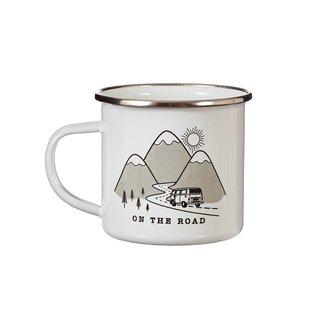 Sass & Belle On the road enamel mug