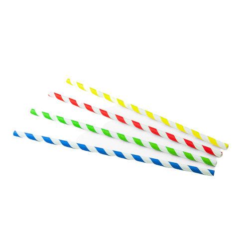 SIER Papieren rietjes Assorti Kleuren (FSC) Ø  6mm - 23 cm
