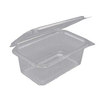 Plastic bakjes vaste deksel rechthoekig